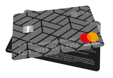 "Kredito kortelė ""MasterCard Standard"""